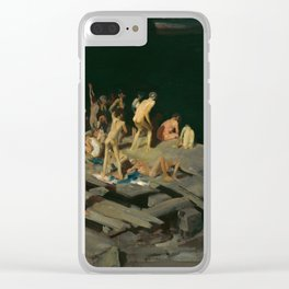 George Bellows - Forty-two Kids, 1907 Clear iPhone Case