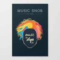 paramore Canvas Prints featuring Music to DYE for — Music Snob Tip #075 by Elizabeth Owens