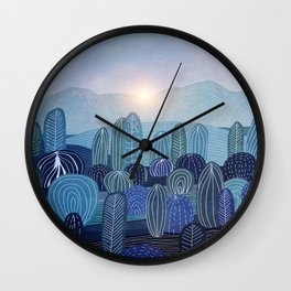 Lines in the mountains 04 Wall Clock