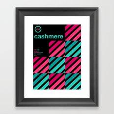 cashmere single hop Framed Art Print