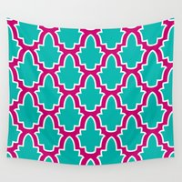 moroccan Wall Tapestries featuring Moroccan by Farah Saheb