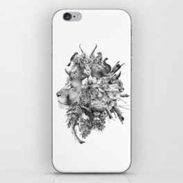 Kingdom of Monarchs (Black and White Version) iPhone Skin