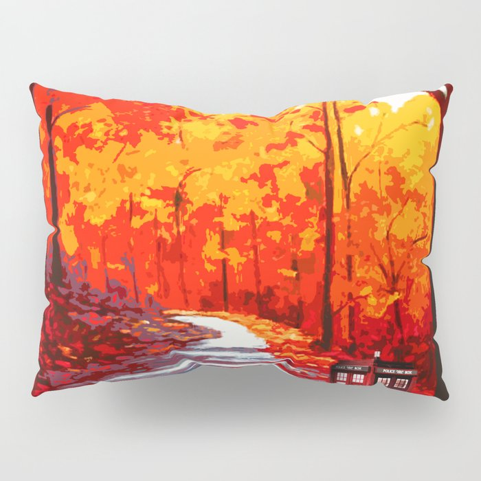 Tardis Art Autumn Pillow Sham