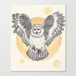 Owl Be Back Canvas Print