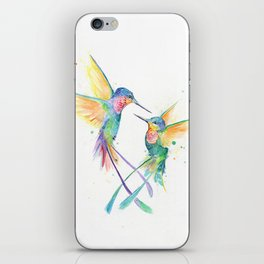 Hopeful Hummingbirds iPhone Skin