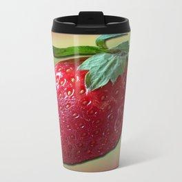 Delicious strawberry Metal Travel Mug
