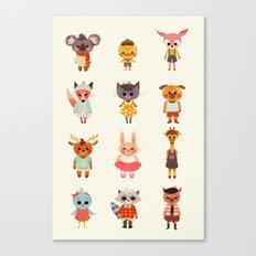 Animal Fashion Canvas Print