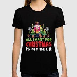 Christmas and Beer - Santa Claus, beer T-shirt