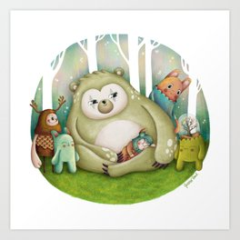 Wonderland friends I Art Print