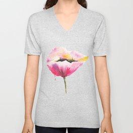 Poppy flower Unisex V-Neck