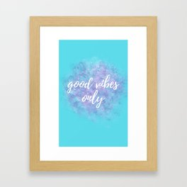 Motivational Sayings - Teal Framed Art Print