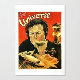 Elon Musk Smoking Canvas Print
