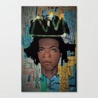 basquiat Canvas Prints featuring Basquiat by Elton Leonard Jr.