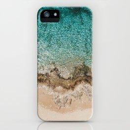 Caribbean Sea Blue Beach Drone Photo iPhone Case