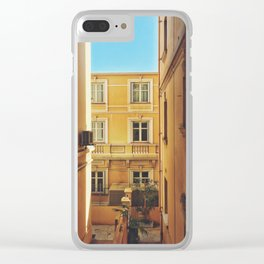 Back alley on the streets of Monaco Clear iPhone Case