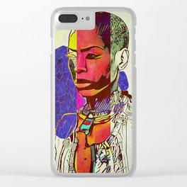 Royal Badu Clear iPhone Case