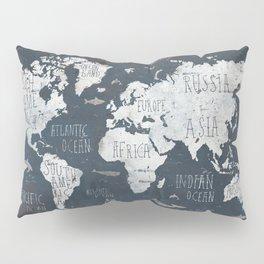 World Map / Rusty Pillow Sham