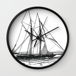 Engraved Yacht Wall Clock