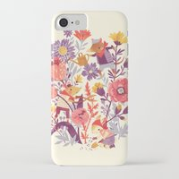 animal crew iPhone & iPod Cases featuring The Garden Crew by Teagan White