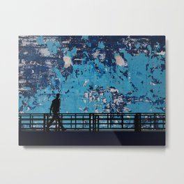 ABSTRACT WALK Metal Print