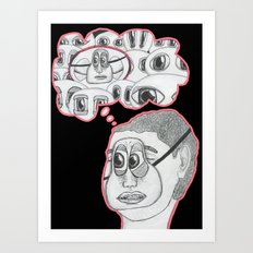 with your eyes closed Art Print