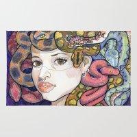 medusa Area & Throw Rugs featuring Medusa by Thea Maia