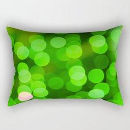 glowing confetti in green Rectangular Pillow