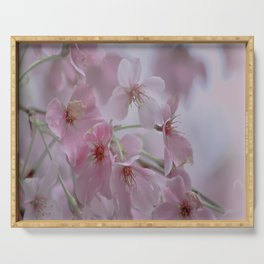 Delicate Pink Blossoms Serving Tray