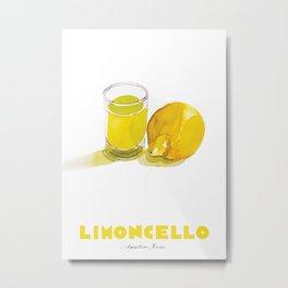 Limoncello Cocktail Metal Print