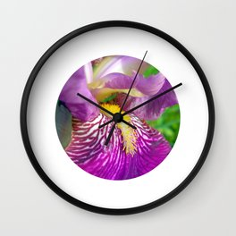 lily macro III Wall Clock