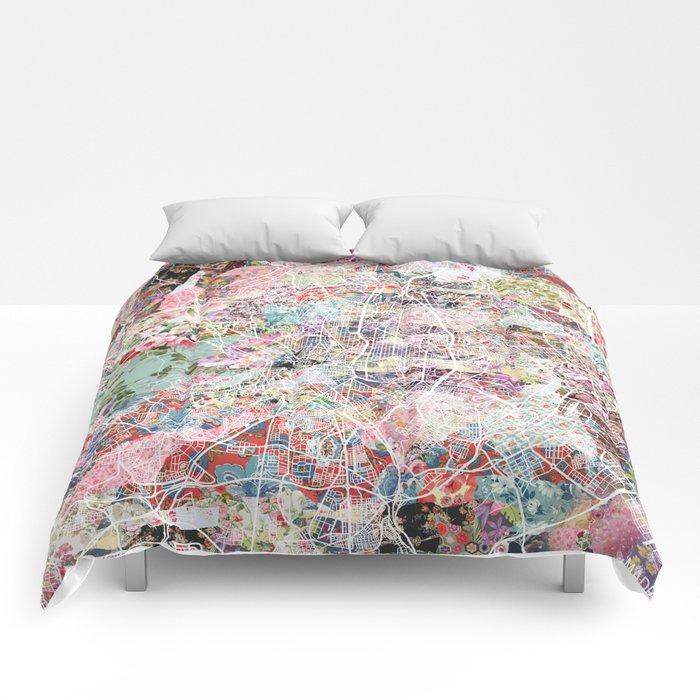 Madrid map Comforters