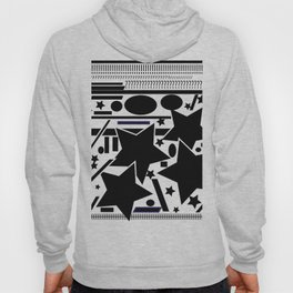 Black and white  composition Hoody