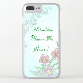 Friendship Warms The Heart Clear iPhone Case