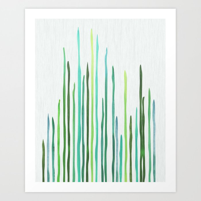 Under The Sea - abstract botanical Art Print