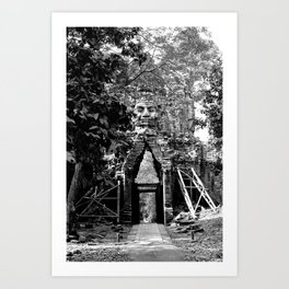 Deserted in the jungle Art Print