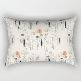 Coral Watercress Pond Rectangular Pillow