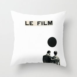Le Film Throw Pillow