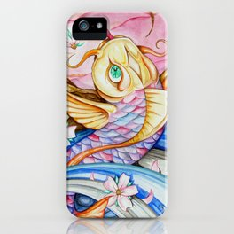 Watercolor Koi Fish iPhone Case