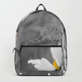 White daisy on a grey day #decor #society6 Backpack