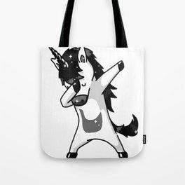 Dabbing Goth Unicorn Fun Gift Idea Design Tote Bag
