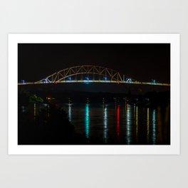 Sagamore Bridge in the Evening Art Print