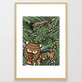 Mowgli Khan and Shere Khan Framed Art Print