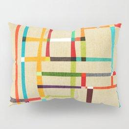 The map (after Mondrian) Pillow Sham