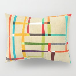 The map (after Mondrian) Pillow Sham