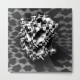 Fancy a Chess Cube? Metal Print