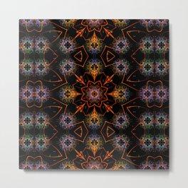 Floral Fractals Metal Print