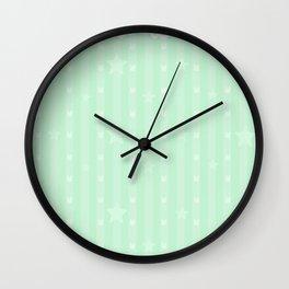 Kawaii Green Wall Clock
