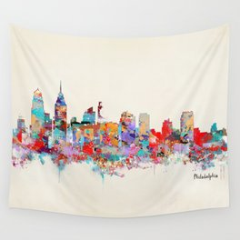 Philadelphia Pennsylvania skyline Wall Tapestry
