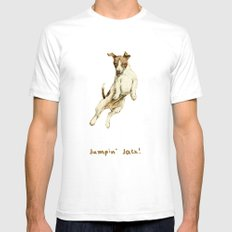 Jack Russell SMALL Mens Fitted Tee White