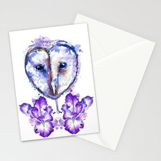 Owl and Irises Stationery Cards